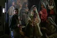 Tom Working on Adoration of the Christ Child